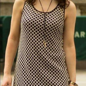 Black and Tan Knitted Mini Dress